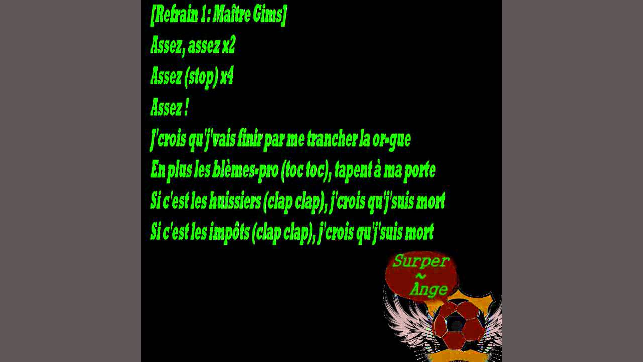 paroles de sexion dassaut assez feat dry