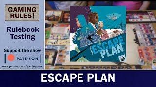 Escape Plan - Rulebook testing