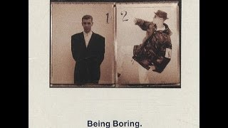 Pet Shop Boys Being Boring Lyrics Video