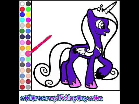 Juego: Colorear Princesa Cadance - YouTube