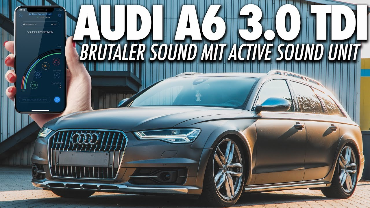 rs6 sound im a6 3 0 tdi active soundgenerator im audi. Black Bedroom Furniture Sets. Home Design Ideas