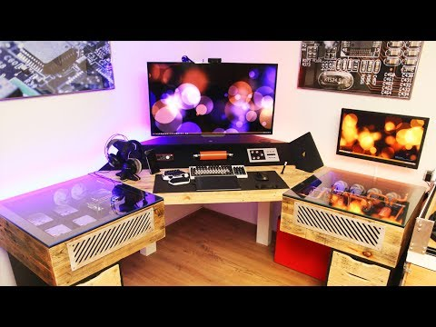Insane Custom Built Dual Pc Desk Setup Spotlight