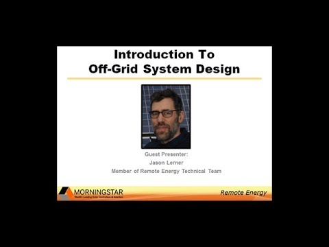 Introduction to Off-grid System Design