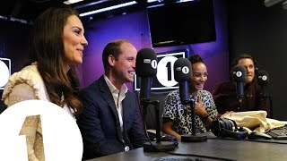 the duke and duchess of cambridge surprise radio 1s adele roberts