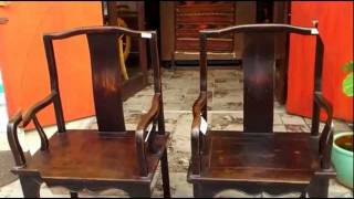 Chinese Antique Chairs C109-19&20