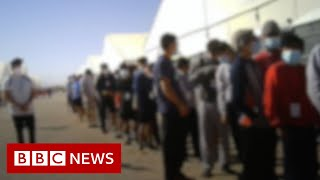 Children detained in disease-ridden conditions in US migrant camp - BBC News