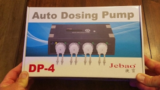 JBJ 45 gallon rimless reef - System Jebao DP-4 Doser and Unboxing | SweatyReef