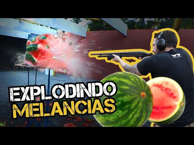 EXPLODINDO MELANCIAS COM VÁRIAS ARMAS   TENENTE COIMBRA