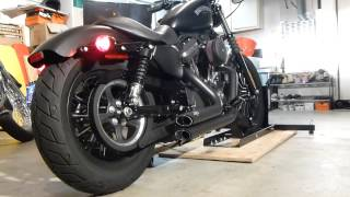 iron 883 with vance and hines short shots
