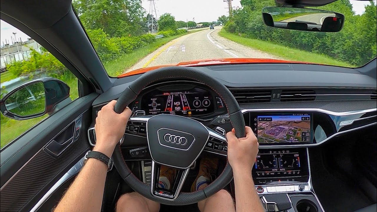 2021 Audi RS6 Avant - POV Test Drive (Binaural Audio)
