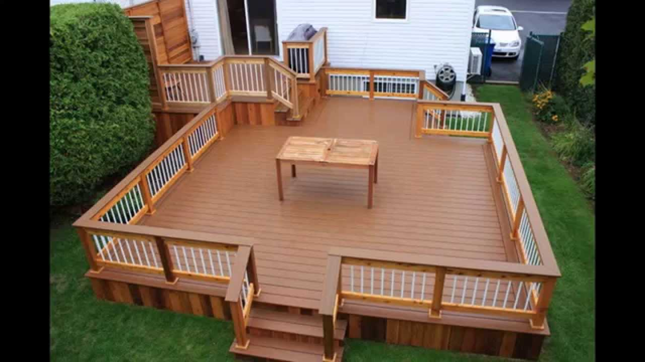 Creative home Patio decks - YouTube on Patio With Deck Ideas id=43149