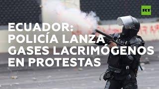 Ecuador: Policía lanza gases lacrimógenos en protesta contra ajuste económico decretado por Moreno