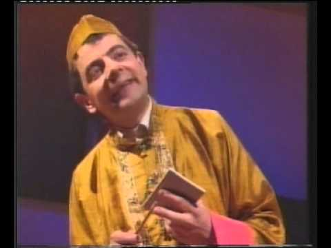 funniest india restaurant skit preceeded by the greatest advert i have ever seen on TV, Rowan atkinson at his prime
