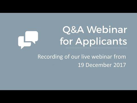 Third call for proposals: Q&A webinar for applicants