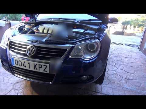 VOLKSWAGEN EOS 2.0 TDI. How to replace oil engine & filter