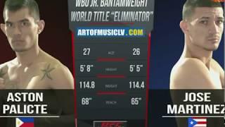 Aston Palicte vs Jose Martinez - WBO - round 2 TKO