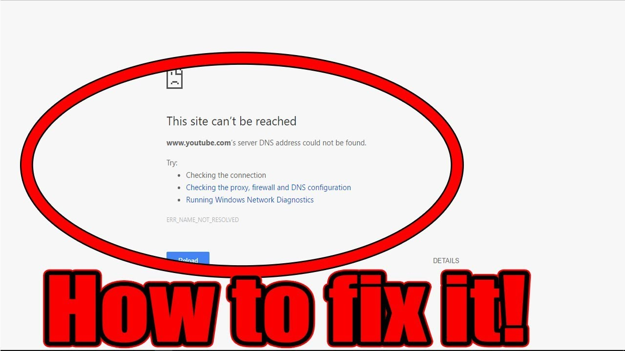 Fix This Site Can\u0027t Be Reached - How To Fix Site Cannot Be Reached
