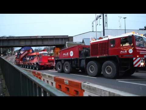 A.L.E Heavy Haulage Unipower - North London Electrical Transformer move