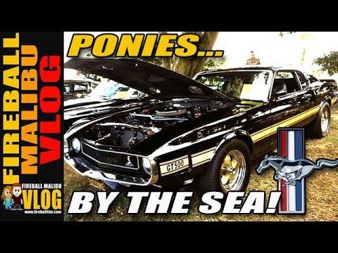 2018 PONIES  THE SEA MUSTANG CAR SHOW  FIREBALL MALIBU VLOG 850