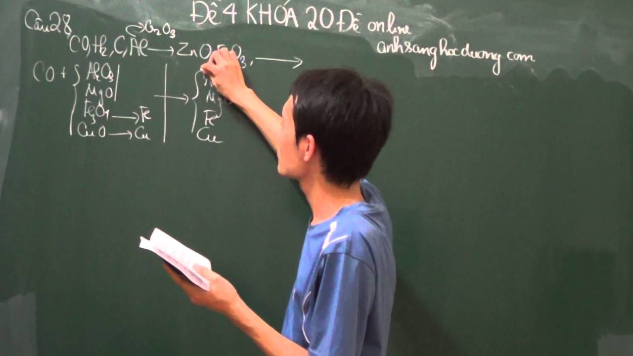 Ôn tập môn Hóa thi Đại học năm 2017 Hoàng Đình Quang (Đề 3 phần 3)