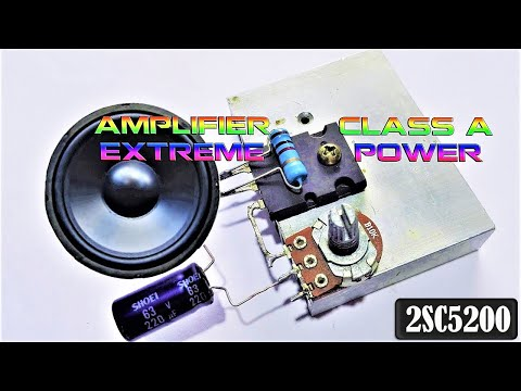DIY Class A Amplifier Using C5200 Transistor Extremely Powerful | Share Tech Creative