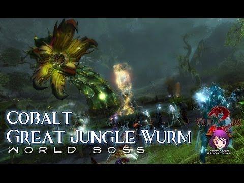 ★ Guild Wars 2 ★ - Triple Trouble - Cobalt Great Jungle Wurm