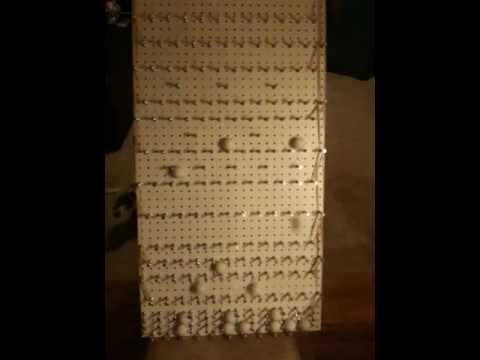 Homemade plinko board youtube for Plinko board dimensions