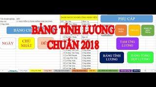 [Excel] Kế toán lương 2018