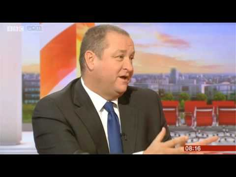 BBC Breakfast Mike Ashley Sports Direct 20/9/16
