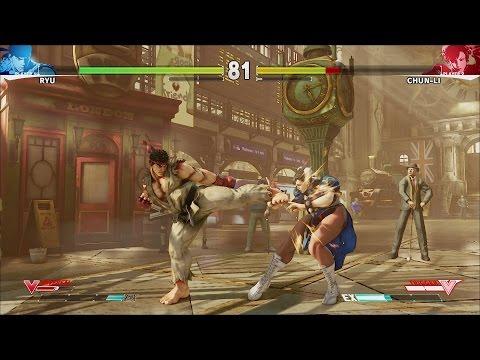 Street Fighter 5 10 MINUTES NEW GAMEPLAY RYU CHUNLI NASH BISON [HD]