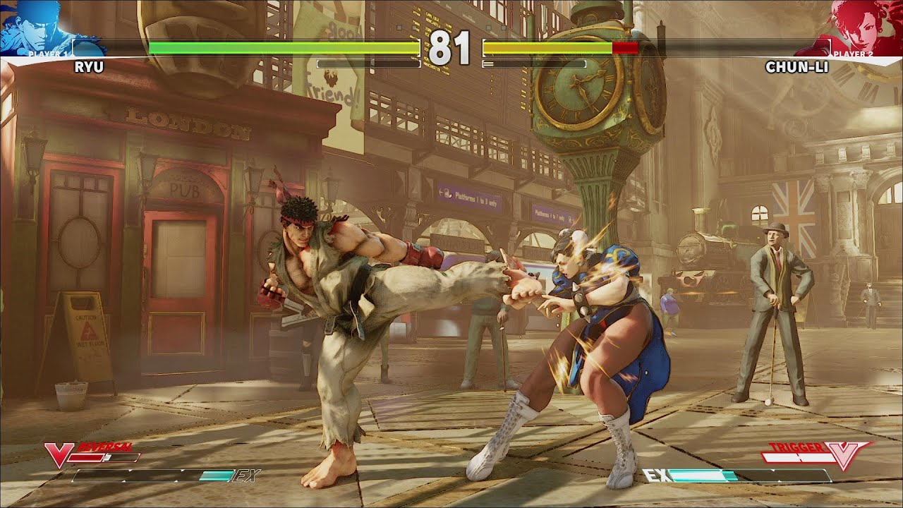 Street Fighter 5 10 Minutes New Gameplay Ryu Chunli Nash Bison Hd Youtube