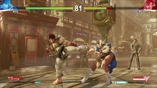 Street Fighter 5 10 MINUTES NEW GAMEPLAY RYU CHUNLI NASH BISON [HD]