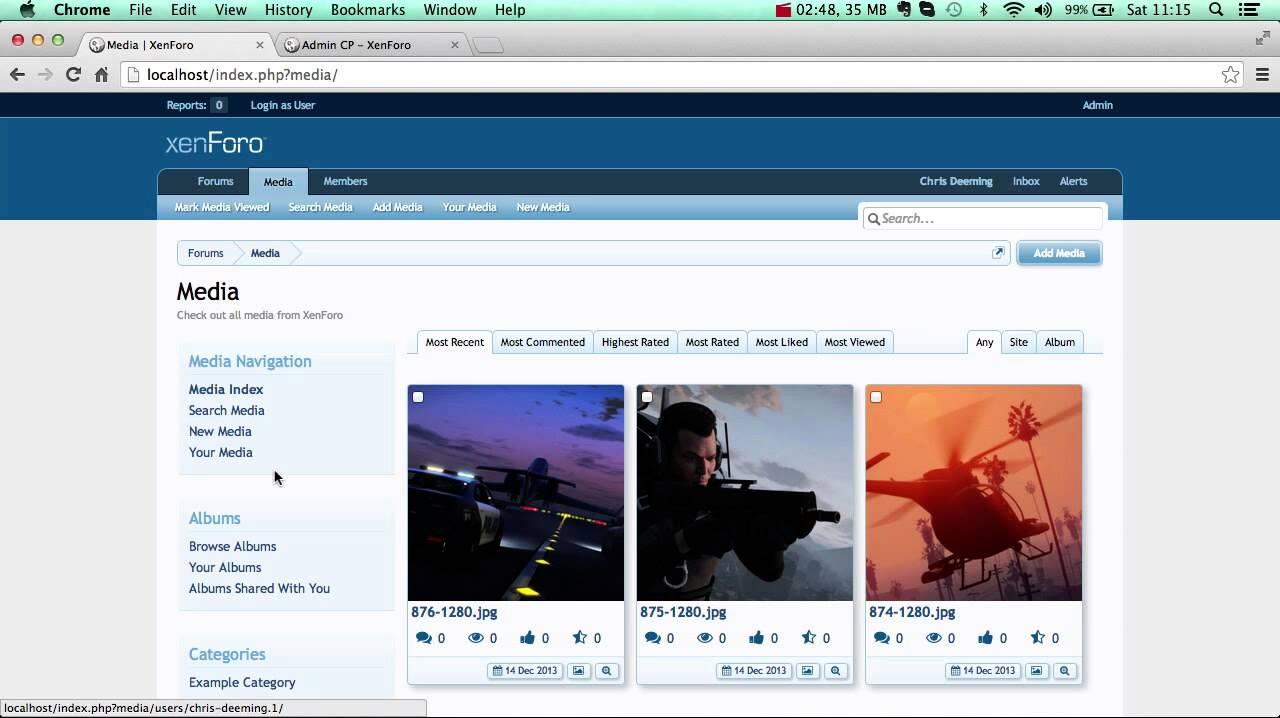 Creating an Album in Xen Media Gallery 2 0