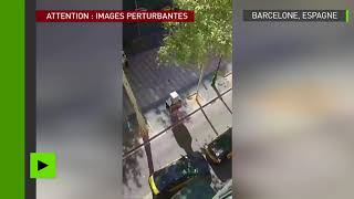 Attention, images choc : au moins un mort lors de l'attentat de Barcelone