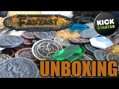 Kickstarter Unboxing: Fantasy Coin (Coins, Gems, Bars)