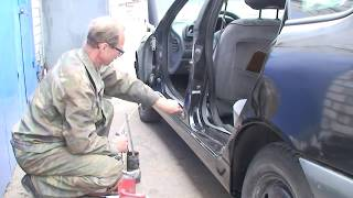 Как заменить и отремонтировать пороги своими руками Renault Laguna #3
