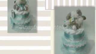 Торт из памперсов    мастер класс от Анастасии Пантелеевой(Как сделать торт из памперсов., 2015-06-13T20:47:40.000Z)
