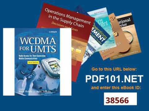 WCDMA For UMTS Radio Access For Third Generation Mobile Communications, 3rd Ed