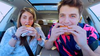 IN-N-OUT vs FIVE GUYS: couple mukbang | Anasala Family