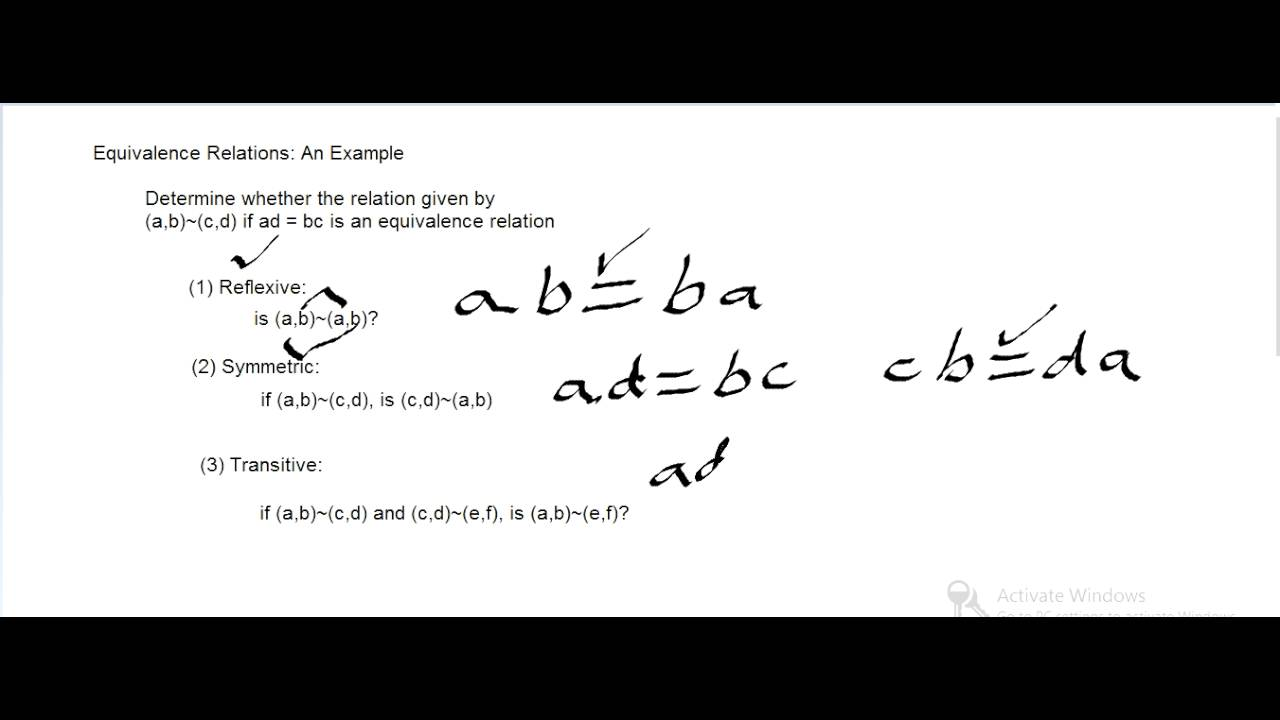 Equivalence Relations An Example Youtube