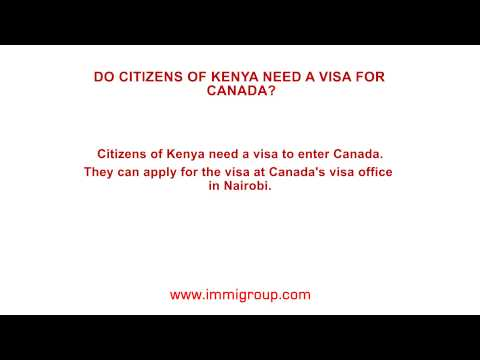 Do citizens of Kenya need a visa for Canada?