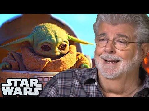 image for Awww!  George Lucas Cradles Baby Yoda...Melts Internet.