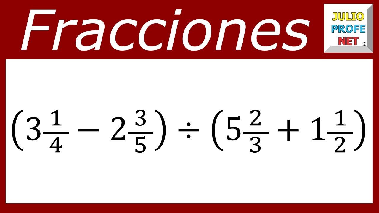 OPERACIONES COMBINADAS CON FRACCIONARIOS - Ejercicio 5