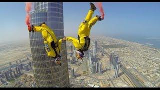 Dois Homens Saltam de Paraquedas do Maior Edifício do Mundo!