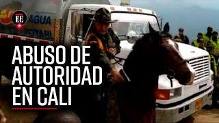 Policía amenazó con arma de fuego a ciudadanos durante peregrinación en Cali | Noticias |