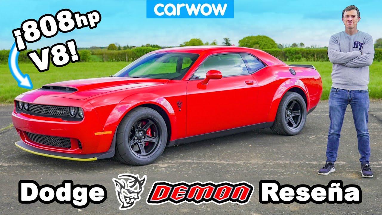 Dodge Demon reseña - ¡0-100km/h, 1/4 de milla, prueba de frenado y DRIFT!