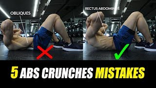 STOP These Stupid ABS CRUNCHES Mistakes [Six pack Abs] तुरंत रोकें