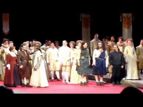 Curtain Call in La Donna del Lago with Joyce DiDonato, Lawrence Brownlee 12.19.15