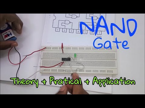 Logic Gates:- NAND Gate [ Theory + Practical + Application ] (In Hindi)
