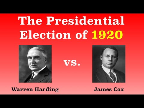 The American Presidential Election of 1920